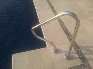 Stainless Steel Swimming pool Rails in Lagos Nigeria. Rolabik Ventures Limited