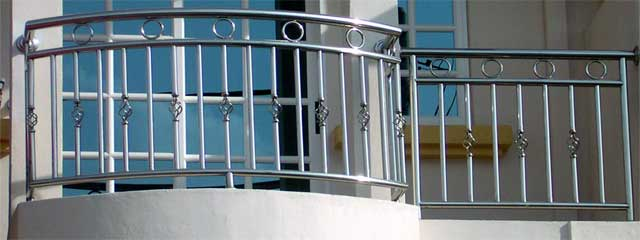 Stainless steel hand rails in Lagos Nigeria by Rolabik Ventures Limited